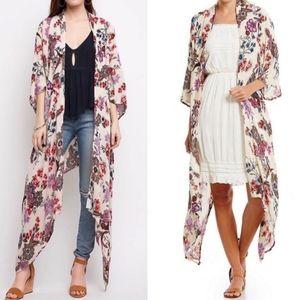 Patrons of Peace Floral Kimono Cardigan